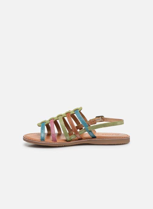Sandales et nu-pieds Geox J Sandal Eolie Girl/J02BSA Multicolore vue face
