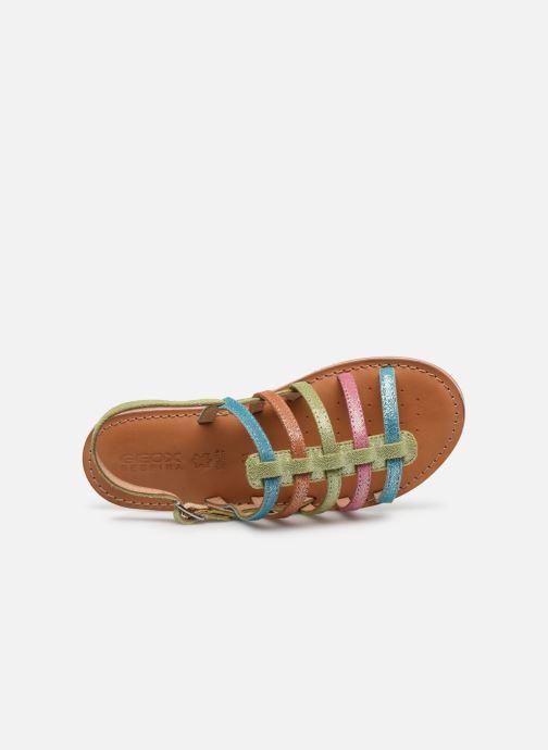 Sandales et nu-pieds Geox J Sandal Eolie Girl/J02BSA Multicolore vue gauche