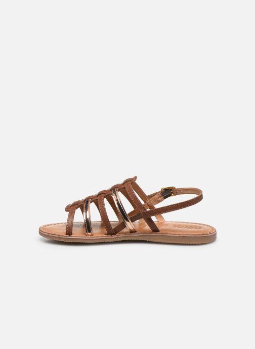 Sandales et nu-pieds Geox J Sandal Eolie Girl/J02BSA Marron vue face