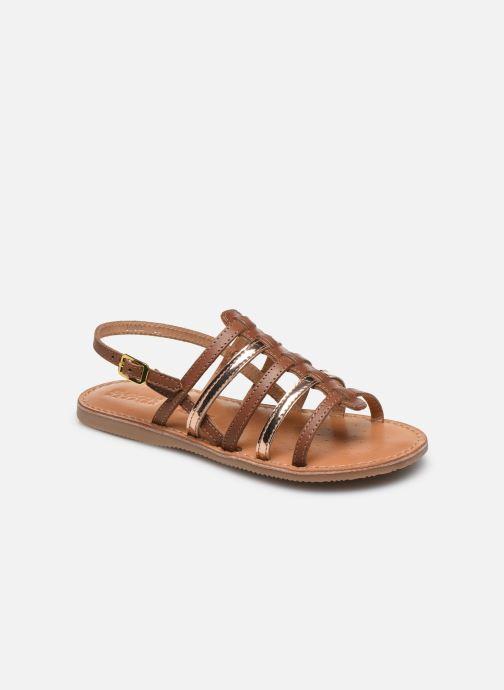 Sandales et nu-pieds Geox J Sandal Eolie Girl/J02BSA Marron vue détail/paire