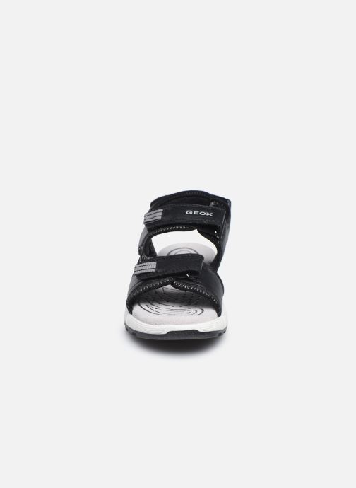 Sandalen Geox J Sandal Alben Boy/J02AVC schwarz schuhe getragen