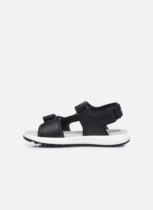 Sandalen Geox J Sandal Alben Boy/J02AVC schwarz ansicht von vorne