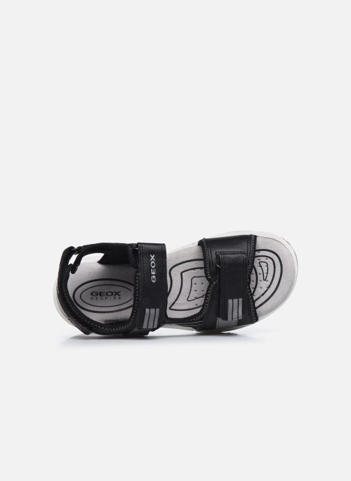 Sandalen Geox J Sandal Alben Boy/J02AVC schwarz ansicht von links