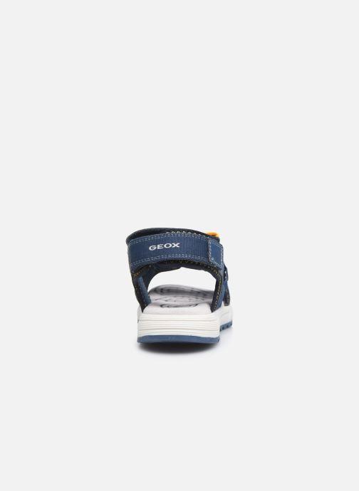 Sandalen Geox J Sandal Alben Boy/J02AVC blau ansicht von rechts