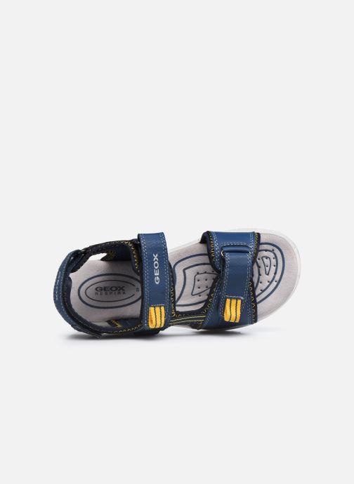 Sandalen Geox J Sandal Alben Boy/J02AVC blau ansicht von links