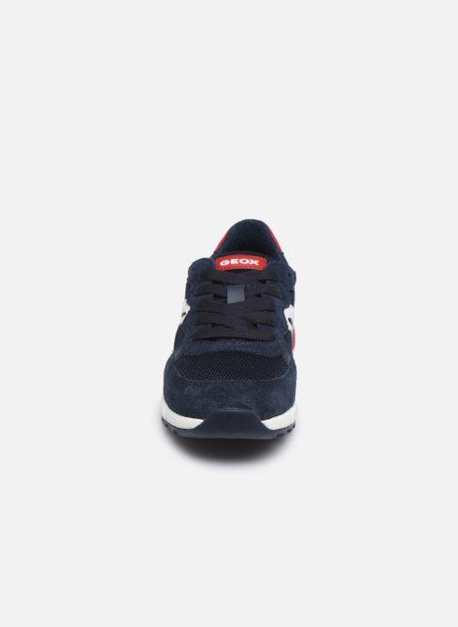 Sneaker Geox J Alben Boy/J949ED blau schuhe getragen