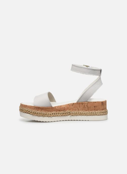 Sandalias Dune London KREST Blanco vista de frente