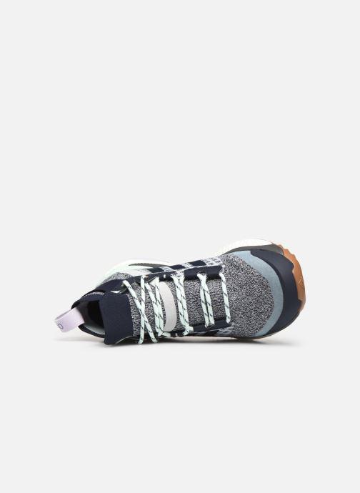 Chaussures de sport adidas performance Terrex Free Hiker W Bleu vue gauche