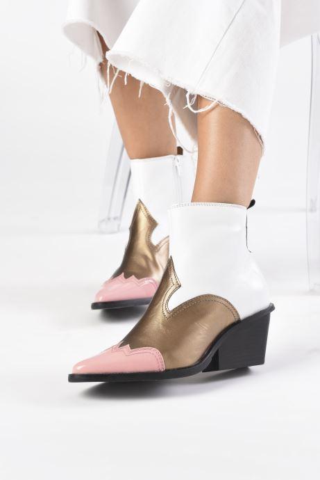Bottines et boots Another Project Fiona Blanc vue bas / vue portée sac