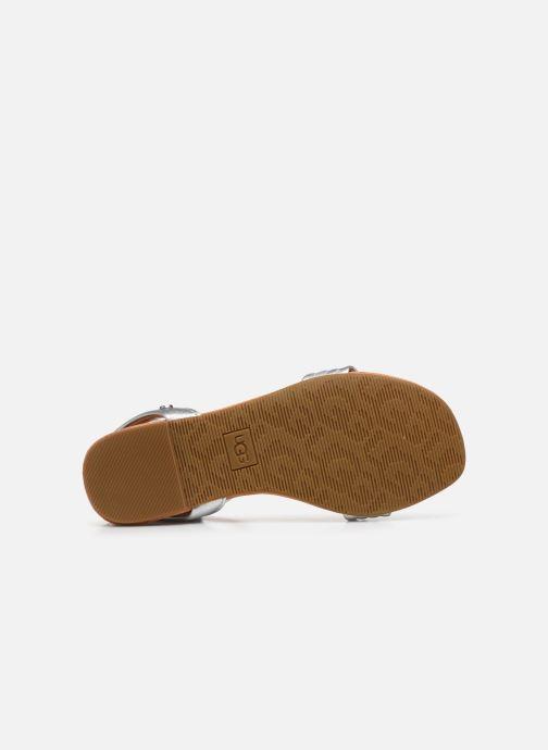Sandales et nu-pieds UGG Ethena Argent vue haut