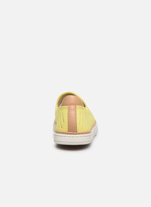 Baskets UGG Sammy Breeze Jaune vue droite