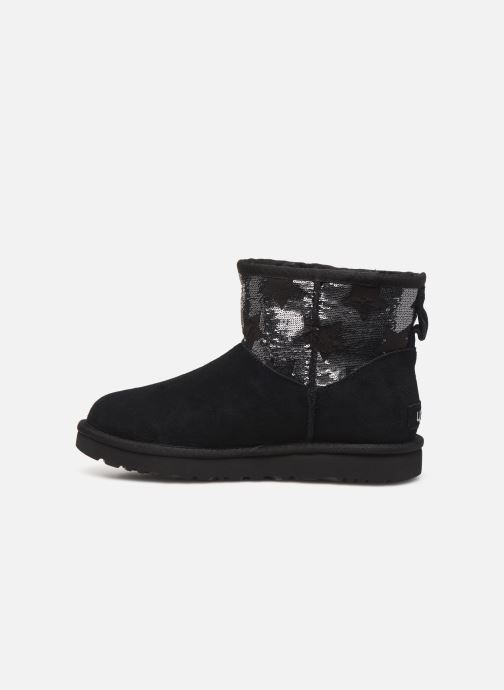 Ankle boots UGG Classic Mini Sequin Stars Black front view