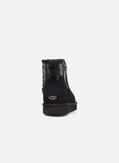 Ankle boots UGG Classic Mini Sequin Stars Black view from the right