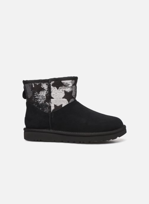 Ankle boots UGG Classic Mini Sequin Stars Black back view