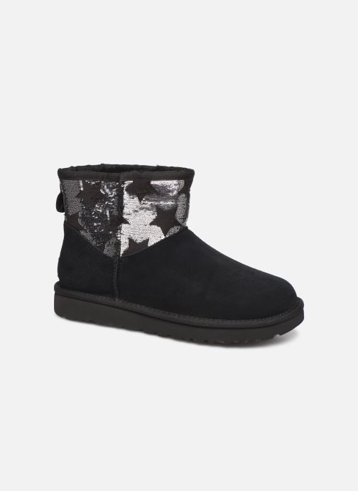 Ankle boots UGG Classic Mini Sequin Stars Black detailed view/ Pair view