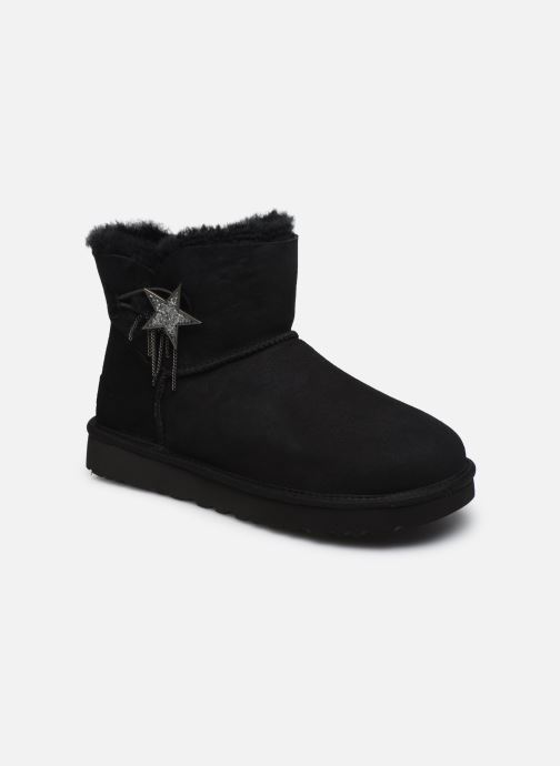 Ankle boots UGG Mini Bailey Star Black detailed view/ Pair view