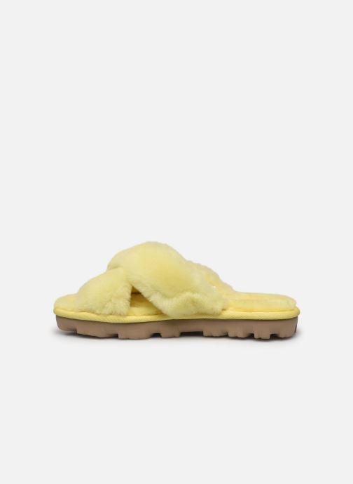 Pantofole UGG Fuzzette Giallo immagine frontale