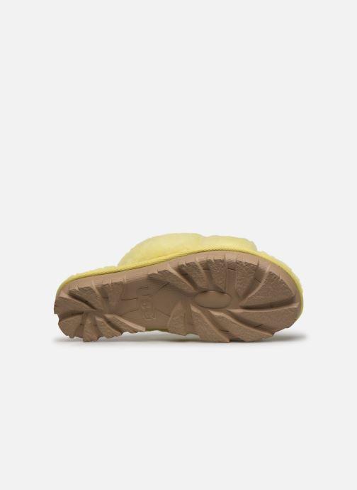 Pantofole UGG Fuzzette Giallo immagine dall'alto