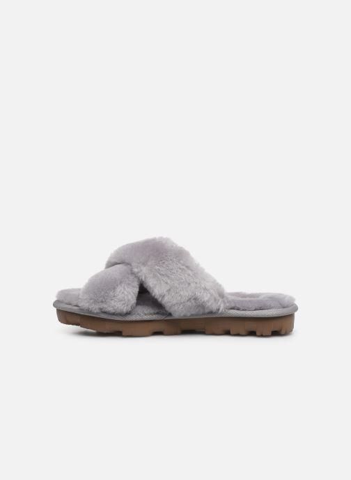 Pantofole UGG Fuzzette Grigio immagine frontale