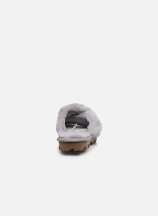 Pantofole UGG Fuzzette Grigio immagine destra