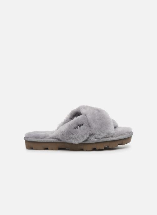 Pantofole UGG Fuzzette Grigio immagine posteriore