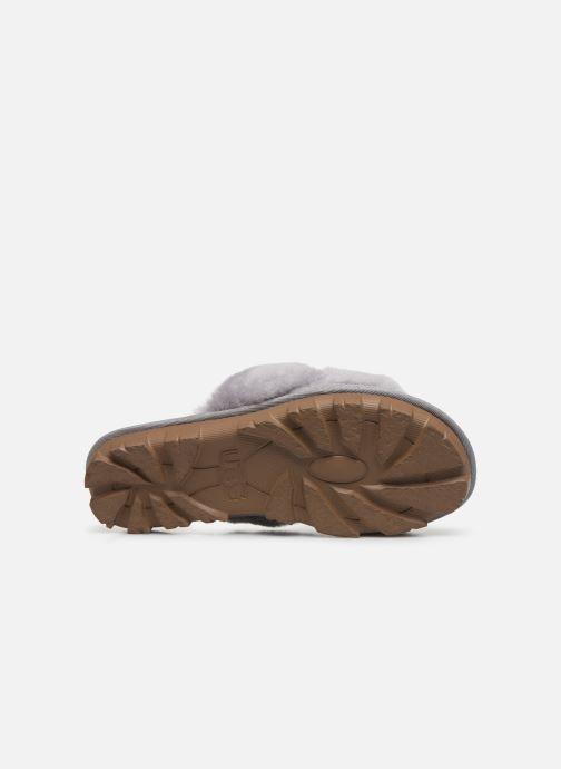 Pantofole UGG Fuzzette Grigio immagine dall'alto