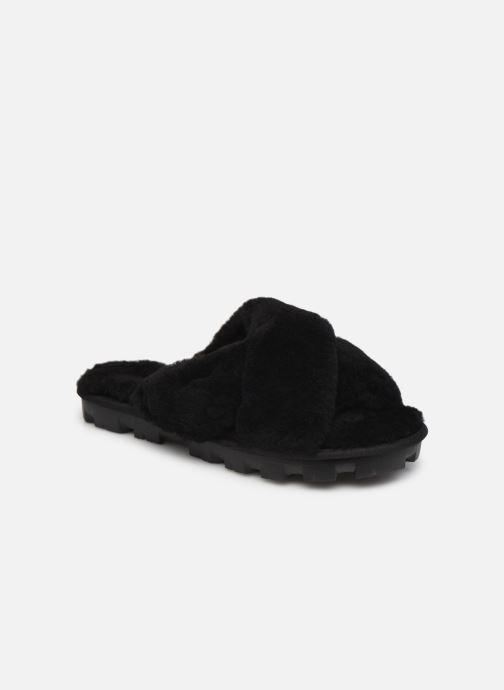 Chaussons UGG Fuzzette Noir vue détail/paire