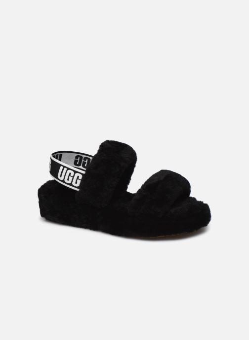 Pantoffels UGG Oh Yeah Zwart detail