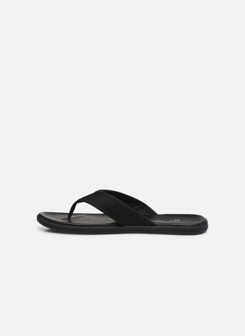 Zehensandalen UGG Seaside Flip Leather schwarz ansicht von vorne