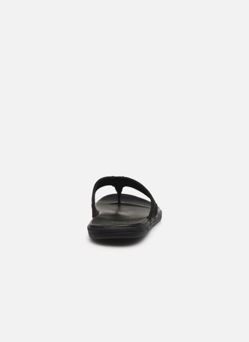 Chanclas UGG Seaside Flip Leather Negro vista lateral derecha