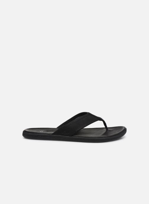 Tongs UGG Seaside Flip Leather Noir vue derrière