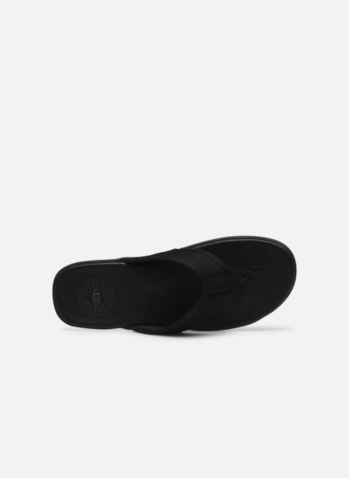 Tongs UGG Seaside Flip Leather Noir vue gauche