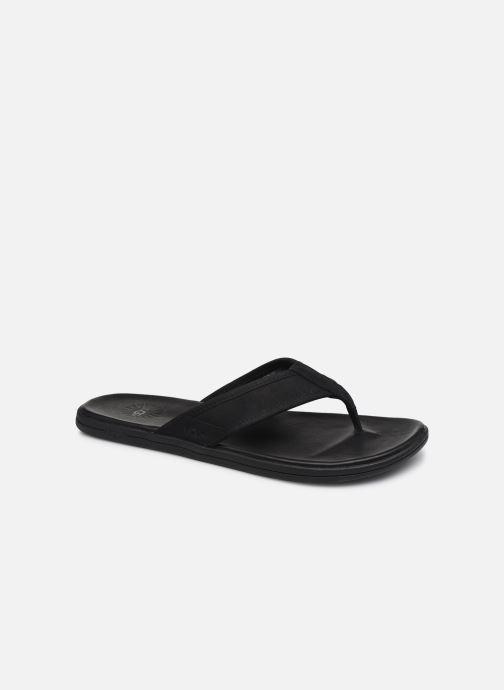 Tongs UGG Seaside Flip Leather Noir vue détail/paire