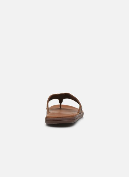 Infradito UGG Seaside Flip Leather Marrone immagine destra