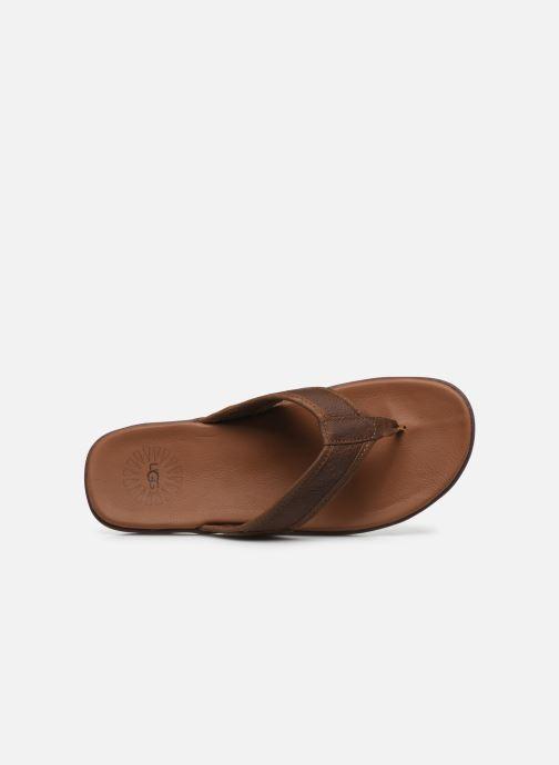 Infradito UGG Seaside Flip Leather Marrone immagine sinistra