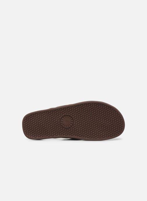 Infradito UGG Seaside Flip Leather Marrone immagine dall'alto