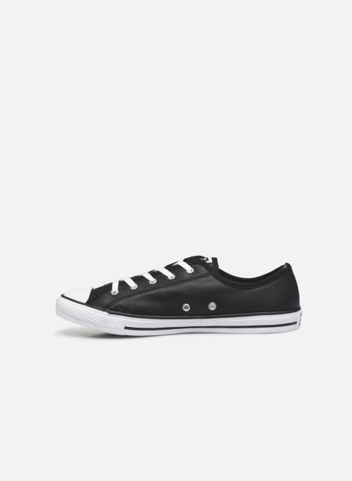 Baskets Converse Chuck Taylor All Star Dainty Leather Ox Noir vue face