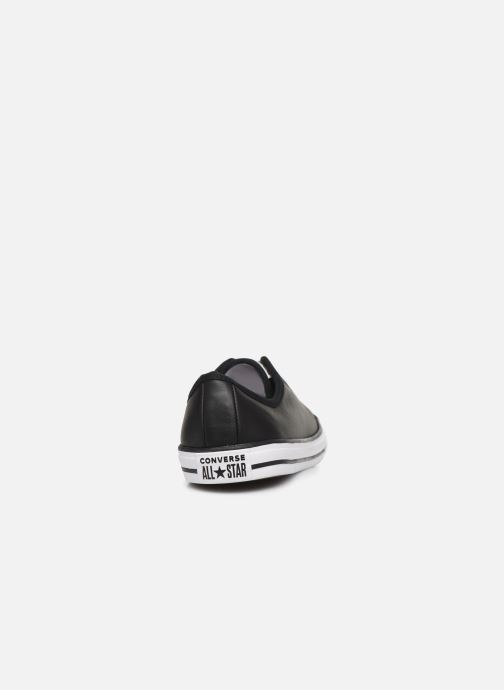 Baskets Converse Chuck Taylor All Star Dainty Leather Ox Noir vue droite
