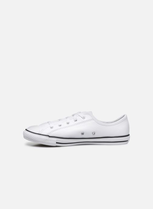 Baskets Converse Chuck Taylor All Star Dainty Leather Ox Blanc vue face