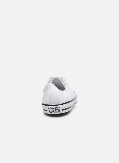 Baskets Converse Chuck Taylor All Star Dainty Leather Ox Blanc vue droite