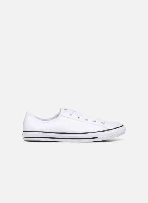 Baskets Converse Chuck Taylor All Star Dainty Leather Ox Blanc vue derrière