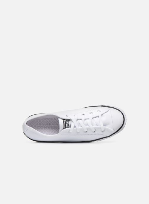 Sneakers Converse Chuck Taylor All Star Dainty Leather Ox Bianco immagine sinistra