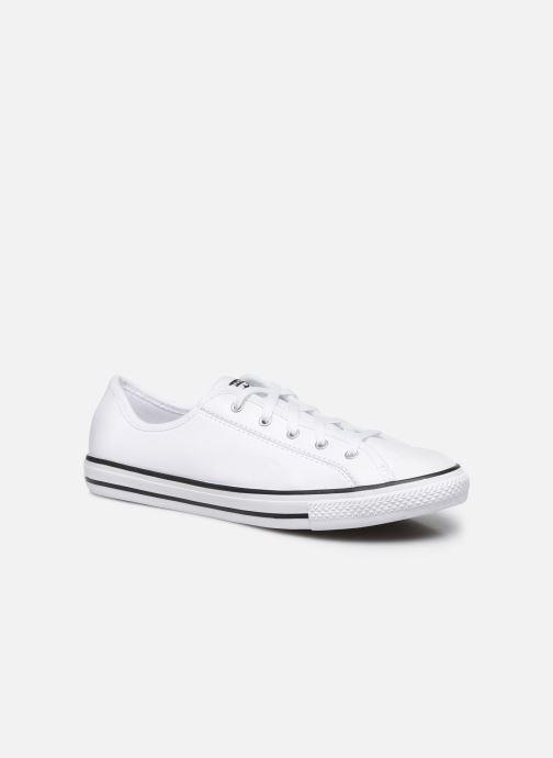 Sneakers Converse Chuck Taylor All Star Dainty Leather Ox Bianco vedi dettaglio/paio