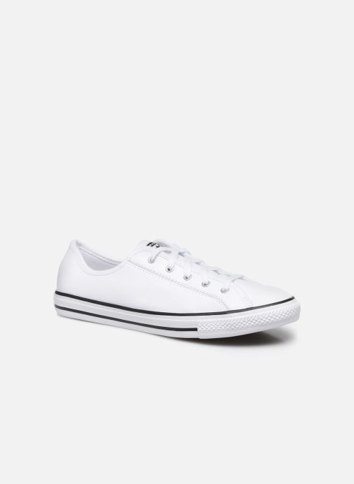 Baskets Converse Chuck Taylor All Star Dainty Leather Ox Blanc vue détail/paire