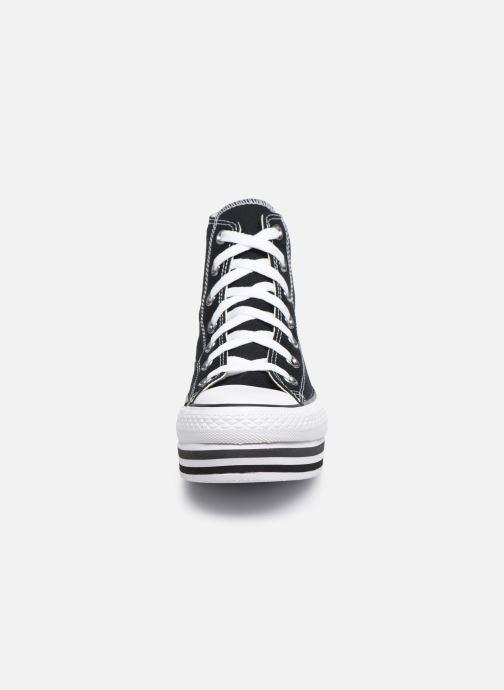 Sneaker Converse Chuck Taylor All Star Platform Layer Eva Layers Hi schwarz schuhe getragen