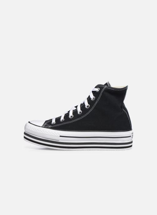 Sneaker Converse Chuck Taylor All Star Platform Layer Eva Layers Hi schwarz ansicht von vorne