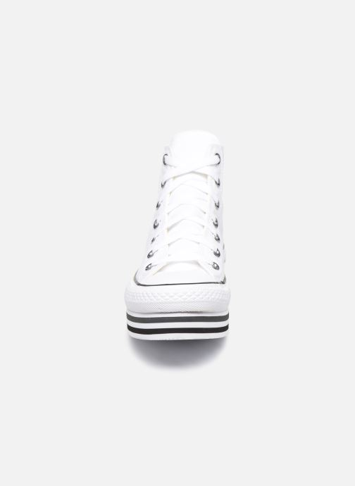 Baskets Converse Chuck Taylor All Star Platform Layer Eva Layers Hi Blanc vue portées chaussures