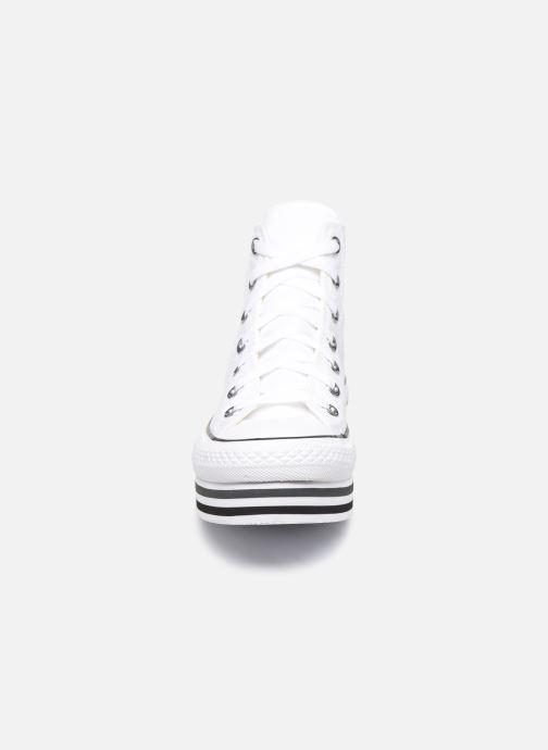 Baskets Converse Chuck Taylor All Star Platform Layer Eva Layers Hi Blanc vue portées chaussures