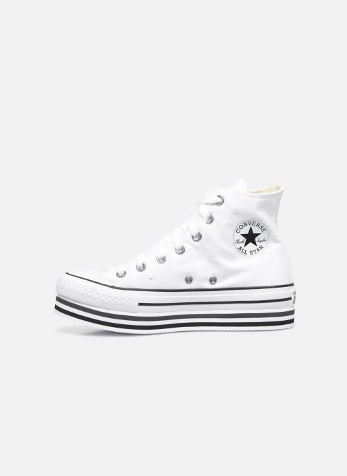 Deportivas Converse Chuck Taylor All Star Platform Layer Eva Layers Hi Blanco vista de frente