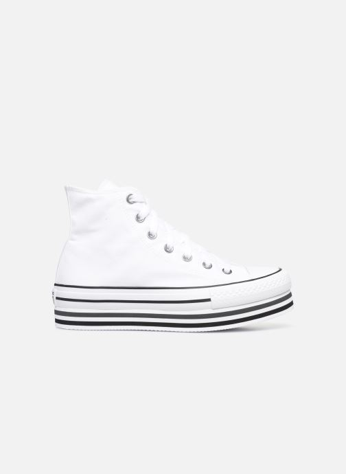 Deportivas Converse Chuck Taylor All Star Platform Layer Eva Layers Hi Blanco vistra trasera